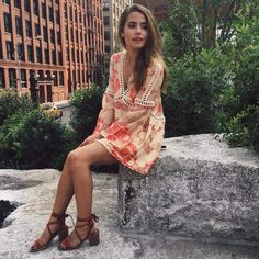 YouTuber Tess Christine in our Barcelona A-Line Dress
