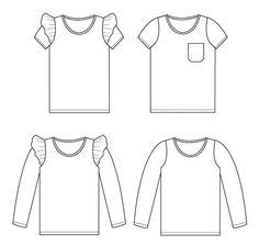 Threads by Caroline Ester & Ebbe Boys Sewing Patterns, Baby Girl Patterns, Pattern Sewing, Baby Girl Shirts, Shirts For Girls, Baby Sewing, Free Sewing, Girls Shirt Pattern, Patron T Shirt
