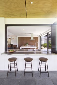 Clarendon Homes' Cisco 37 - Outdoor servery Clarendon Homes, Alfresco Area, Cool Kitchens, House Plans, New Homes, Minimalist, Windows, Modern, Table