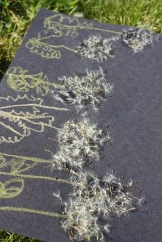 Dandelions made with real dandelion fluff
