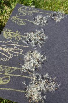 Dandelion seed art