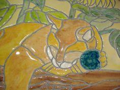 Custom Pet Plaque Mosaic Tile Sleeping Cat Mosaic by michemozaix