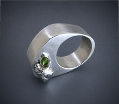 Peridot Ring by lcarlsonjewelry on Etsy, $275.00