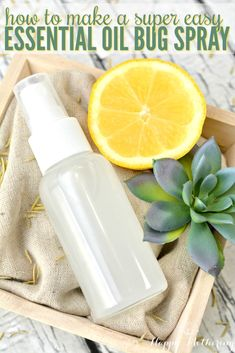 The beauty of spring brings the annoyance of bugs and insects. Learn how to make a super easy homemade essential oil bug spray using five natural ingredients.
