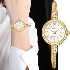 Shop & Buy Lvpai Women Small Gold Bangle Bracelet Luxury Watches Stainless Steel Ladies Quartz Wristwatch Casual Women Dress Colck Online from Aalamey Gold Bangle Bracelet, Gold Bangles, Bracelet Watch, Cheap Luxury Watches, Cheap Watches, Datejust Rolex, Gucci, Beautiful Watches, Quartz Watch