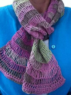 Orphan Scarf - easy one skein crochet on Ravelry (by Doris Chan)