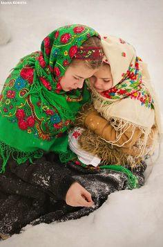 Boho folk head scarf shawl