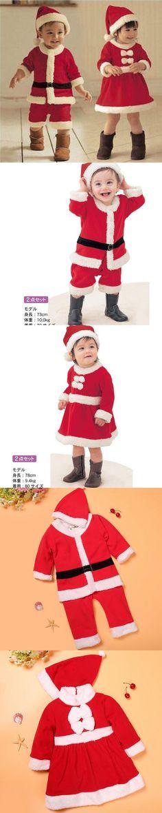 2016 Children Christmas Clothing Set 12M-3Y Baby Boys Girls Christmas Suit and Dress Santa Claus Costumes Newborn Enfant Clothes $14.99