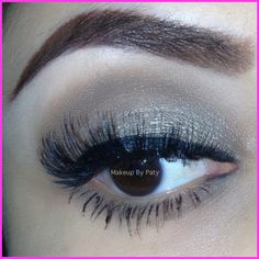 Silver and Brown shimmery eye makeup for brown eyes