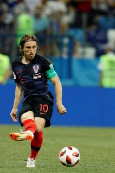 98b9e7458 Luka Modric of Croatia in action during 2018 FIFA World Cup Russia Round of  16 match