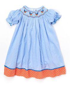 Love this Blue & Red Polka Dot Bird Bishop Dress - Infant, Toddler & Girls on #zulily! #zulilyfinds