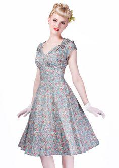 Ditsy Dream Tea Dress - Fashion 1930s, 1940s & 1950s style - vintage reproduction £90
