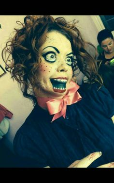 Maquillaje de halloween muñeca