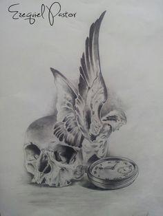 draw,drawing,dibujo,sketch,book,design,diseño,art,realistic,portrait,realismo,angel,watch,skull,calavera