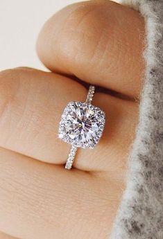 Madison Ultra Shine Cubic Zirconia Crystal Cushion Cut Halo Fashion Ring in  Silver cc25a86e5472
