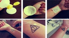 LOVE this!  DIY Temporary Tattoos... I see me doing this for all major holidays and celebrations!!!