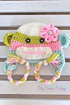 Make a sock monkey hat free crochet pattern crochet children and sock monkey hat girl sock monkey hat baby sock monkey hat animal hat kids hats children hats toddler hats winter hat dt1010fo