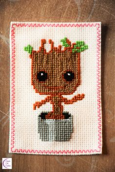 My first cross-stitches +°+ Mes premiers points de croix Grey Beards, Fellowship Of The Ring, Baby Groot, Cross Stitch Baby, Crafts For Girls, Points, Le Point, Cross Stitching, Embroidery Stitches