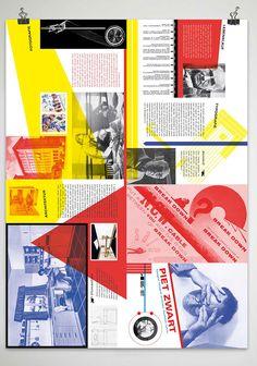"A brochure for netherlands artist/ typographer ""Piet Zwart"". Graphic Design Projects, Netherlands, Behance, Student, Bauhaus, Creative, Artist, Composition, Posters"