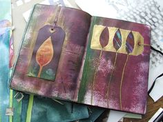 All the latest from DesignMatters. Linda's Kemshall garden inspired sketchbook, example page.