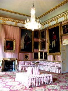 Apsley House, London ~ home of the first Duke of Wellington after his victory over Napoleon at Waterloo ~ interiors haven't changed much since the Iron Duke's occupancy. Located at Hyde Park.