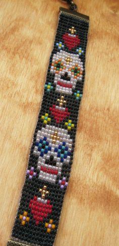 MDC Bracelet de perles de Day of The Dead Loom
