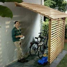 shed diy Fahrradgarage und Bikeport selber bauen Pool Storage, Garden Tool Storage, Storage Shed Plans, Storage Ideas, Art Storage, Outdoor Storage Sheds, Gazebo, Pergola Diy, Garage Pergola