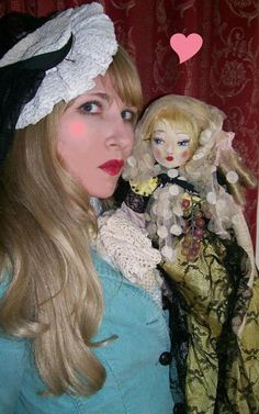 Dame Darcy and her doll