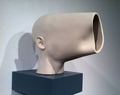 Michael Beitz, Opening, 2011, vitreous china, 8 x 12 x 12 inches.