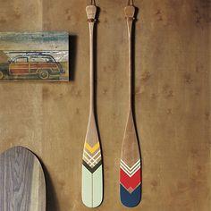 Retro, camp, colors, stripes, oars. CB2
