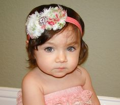 20 off entire order Baby headbandsFloral rosette by WinterScarlett, $12.99