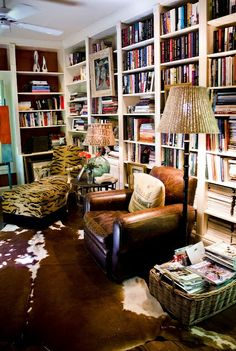 I love rustic and organic feel of this room. Rich colours and animal print add personality and interest.