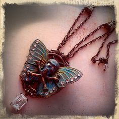 La Fee Verte - The Green Fairy Necklace by TheRustySpiderwb