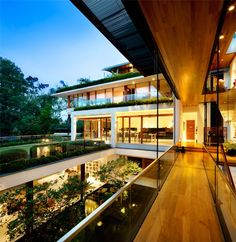 Guz Architects have designed the Dalvey House for a family in Singapore.