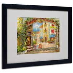 'Capri Isle' by Rio Matted Framed Painting Print