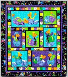 Kids Quilts Hatched Applique Quilt Pattern