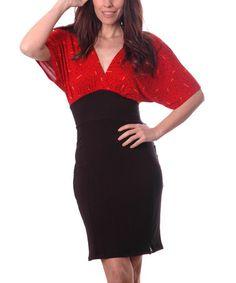 Look what I found on #zulily! Fractal Red & Black Job Dress #zulilyfinds
