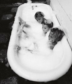 Babes and bubbles.
