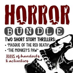 What better way to get your young readers hooked than to scare them silly? This comprehensive bundle includes two classic thrillers along with TONS of engaging activities, handouts and a PowerPoint--all Common Core aligned. Great for Halloween or ANY time of year! ($)