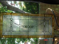 faux stained glass transom window cling