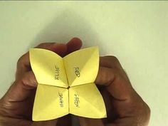 DIY Origami Fortune Teller