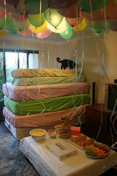 That's one Way to Make a Basement Cat - LOLcats is the best place to find and submit funny cat memes and other silly cat materials to share with the world. We find the funny cats that make you LOL so that you don't have to. Pj Party, Sleepover Party, Throw A Party, Slumber Parties, Party Time, Mint Party, Cat Memes, Funny Memes, Hilarious