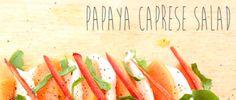 Papaya Caprese Salad