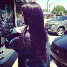 black purple tint hair - Google Search