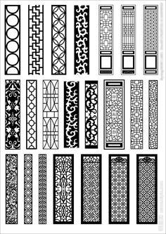 Stencil Patterns, Pattern Art, Pattern Design, Gate Design, Door Design, Design Design, Image Illusion, Laser Cnc Machine, Jaali Design