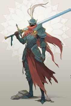 It's been a while since I've posted anything, but now I'm happy to share my final graduation project. I had to make quite a number of concepts, and that is the first part - the main hero of the game, the undead knight in search Fantasy Character Design, Character Design Inspiration, Character Concept, Character Art, Armor Concept, Weapon Concept Art, Dnd Characters, Fantasy Characters, Dark Fantasy