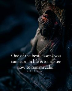 Master remaining calm