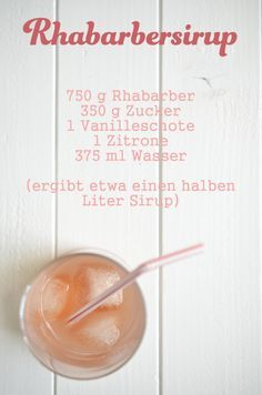 Recipe for rhubarb syrup Rezept für Rhabarbersirup Recipe for rhubarb syrup Melon Recipes, Rhubarb Recipes, Sweet Recipes, Vegan Smoothies, Smoothie Drinks, Smoothie Recipes, Summer Drinks, Cocktail Drinks, Cocktail Recipes