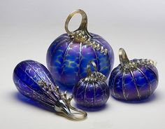 Cobalt glass - I would so decorate my house with this!