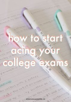 a daily guide to acing your exams in college!